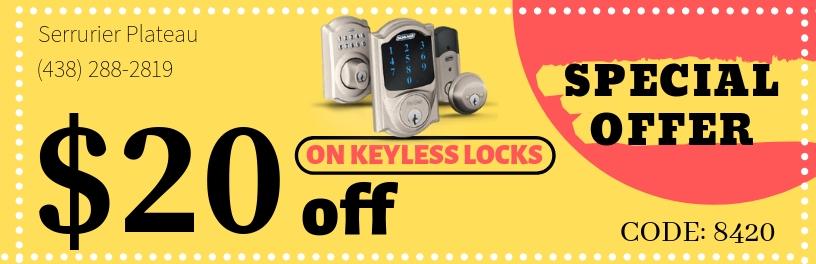 keyless locks coupon