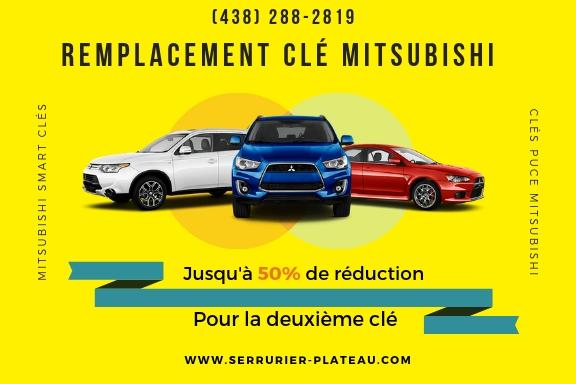 Remplacement de Clé Mitsubishi