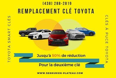Remplacement De Clé Toyota